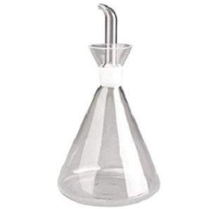 Aceitera antigoteo de cristal con probeta Ibili