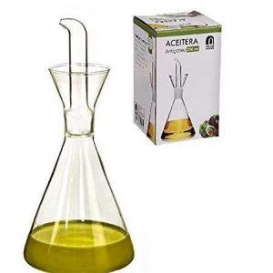 Aceitera antigoteo de cristal Dcasa 250ml