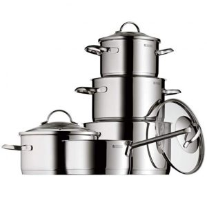 Batería de cocina de 5 piezas en acero inoxidable