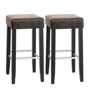 Conjunto de dos taburetes con sillas acolchadas de Songmics