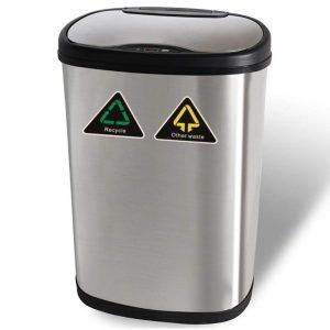Cubo de basura automático de acero inoxidable