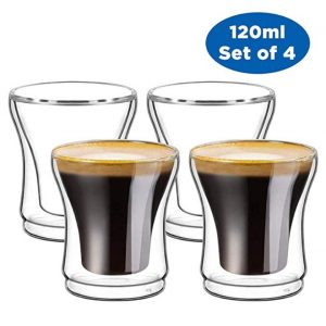 Juego de café de 4 vasitos térmicos