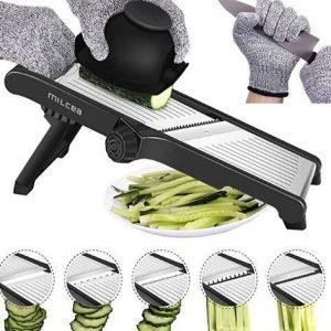 Mandolina de cocina de acero inoxidable