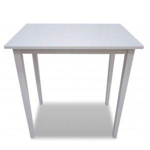 Mesa alta de madera de color blanco