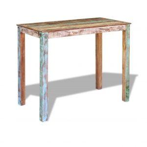 Mesa alta de madera maciza hecha a mano
