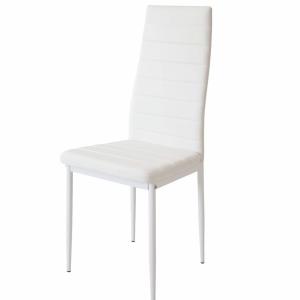Pack de 4 sillas de acero y piel sintética