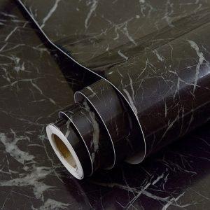Vinilo de mármol negro de GLOW4U